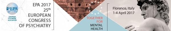 EPA 2017 – 25th European Congress of Psychiatry   Florence, Italy   1-4 April 2017